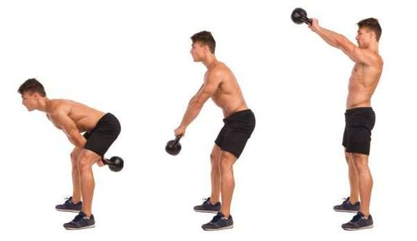 تمرين Kettlebell Swings